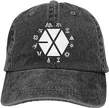 Kemeicle Unisex Exo Logo Hat Adjustable Washed Dyed Baseball Caps Snapback