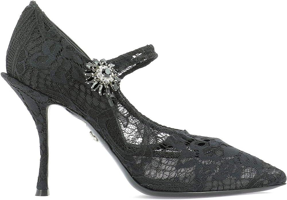 Dolce & gabbana scarpe con tacco da donna in pelle CD1292AJ31680999