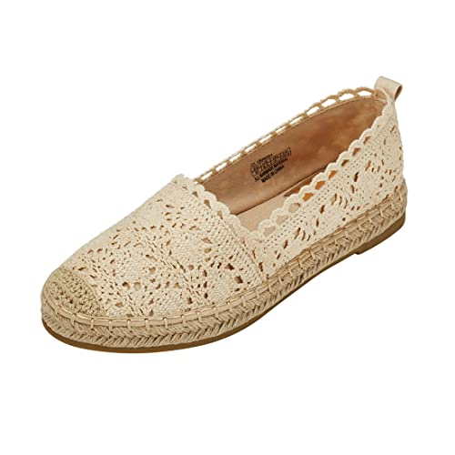 904848025 Espadrille Sneakers for Women: Hollow Canvas Casual Flats Classic Slip-On Comfortable  Shoes