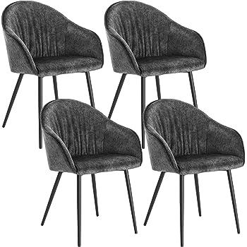 Lestarain 4er Set Esszimmerstühle, Küchenstuhl Polsterstuhl