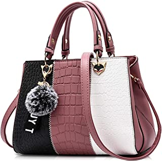 Noir Alidear Sacs /à main en cuir PU pour les femmes dames Vintage en cuir souple fourre-tout sacs /à bandouli/ère sacs Messenger