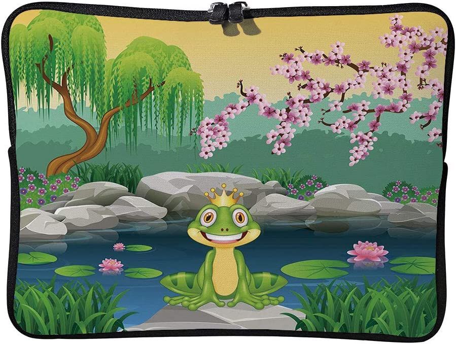 C COABALLA King,Fairytale Inspired Cute Little Frog Laptop Sleeve Case Water-Resistant Protective Cover Portable Computer Carrying Bag Pouch for Laptop AM019482 17 inch//17.3 inch