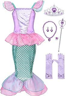 فساتين زي الاميرة من كوتريو للفتيات الصغيرات، زي حورية البحر بفستان فاخر لاعياد الميلاد وعيد الهالوين والحفلات