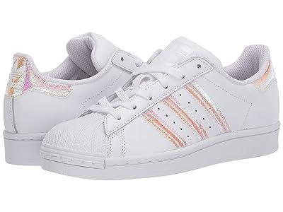 adidas Originals Kids Superstar (Big Kid) (White/White) Girls Shoes