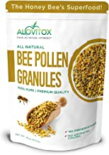 ALOVITOX Bee Pollen Granules | 100% Pure, Natural Raw Bee Pollen - Antioxidants, Proteins, Vitamins B6, B12, C and A, Amin...
