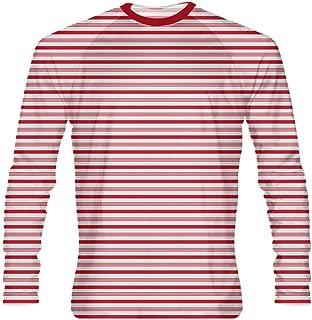 LightningWear Red Candy Cane Long Sleeve Shirt - Custom Holiday Shirts - Christmas Shirts - Long Sleeve Christmas Shirts