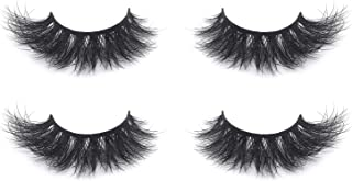 Huapan 4D Mink Eyelashes, 100% Natural, Dramatic Lashes for Fashion, Wedding, and Everyday