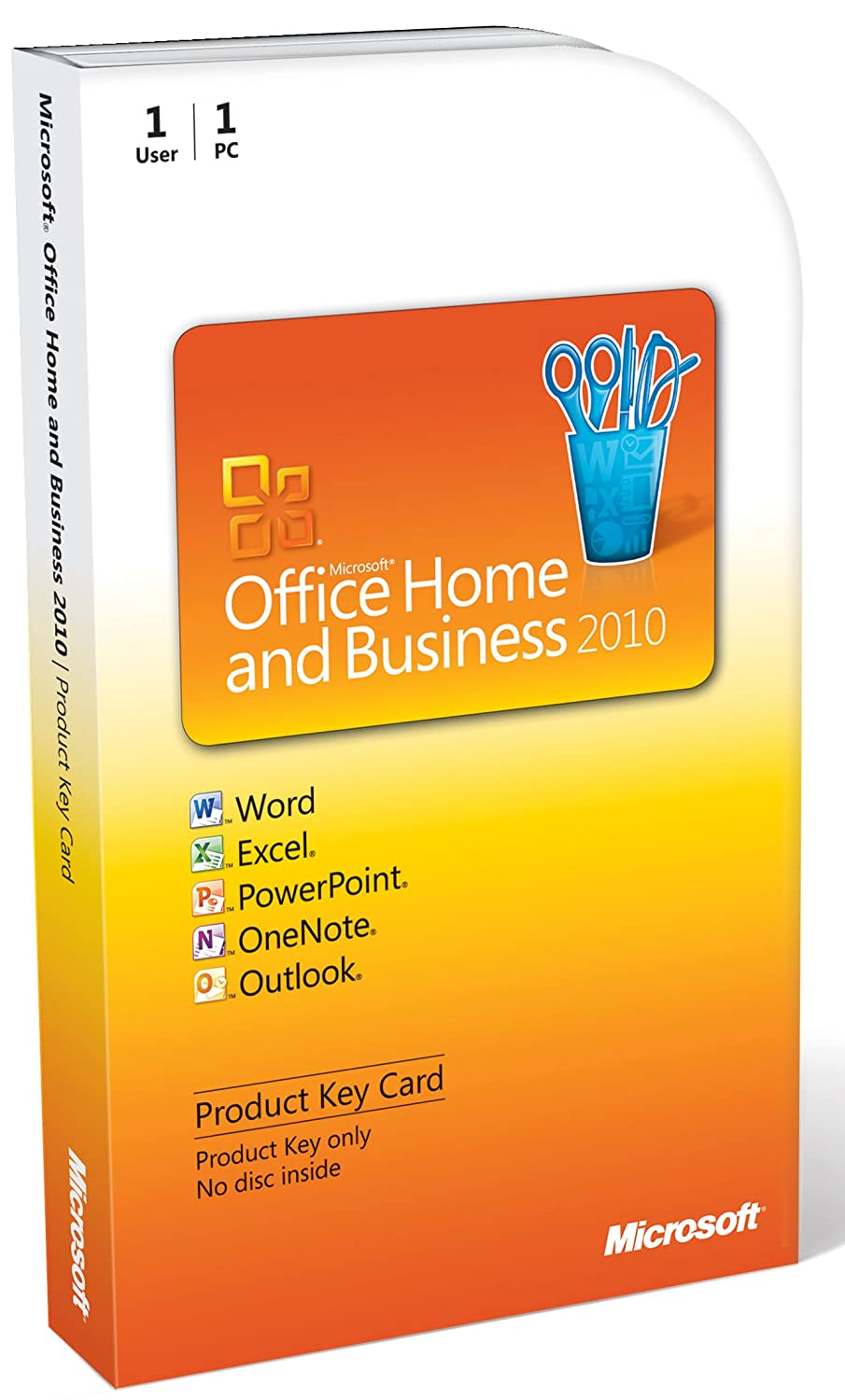 Microsoft Office Home Mail order Max 74% OFF cheap Business 2010 1PC Card Key - 1User