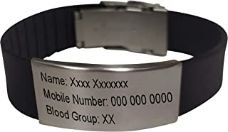 Vista ROAD ID/Sport ID for Athletes -18 MM Personalized ID Bracelet