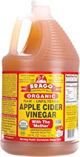 Bragg Organic Raw Unfiltered Apple Cider Vinegar with The Mother, 128 ounce