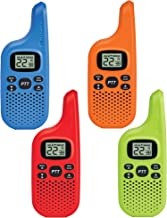 Midland - X-TALKER T20X4, Bright Colors & Fun for Kids | 22 Channel FRS Walkie Talkie - Two-Way Radio, 38 Privacy Codes, NOAA Weather Alert (4 Pack) (Multi-Color)