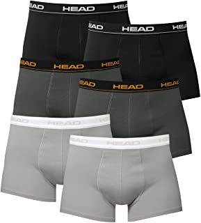Head Men's Boxer Shorts (Pack of 6) in a range of colours