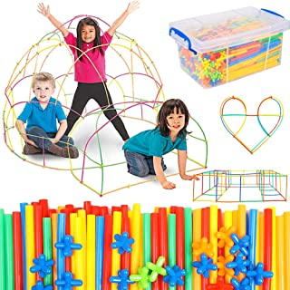Straw Constructor Building Toy 1000 Pcs for Kids Age 3-12, Stem Activities Straws and Connectors Educational Building Set,...