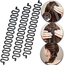 3 Pcs Hair Braiding Tool Roller With Hook Magic Hair Twist Styling Bun Maker DIY Hair Style Accessories Black