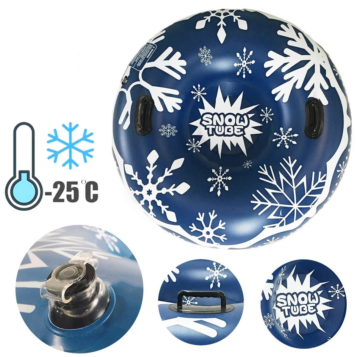 Gogokids Winter Aufblasbare Schlitten mit Griff Aufblasbarer Schlitten f/ür Kinder und Erwachsene Draussen Ski Spa/ß Skisport 120 cm//47 Zoll