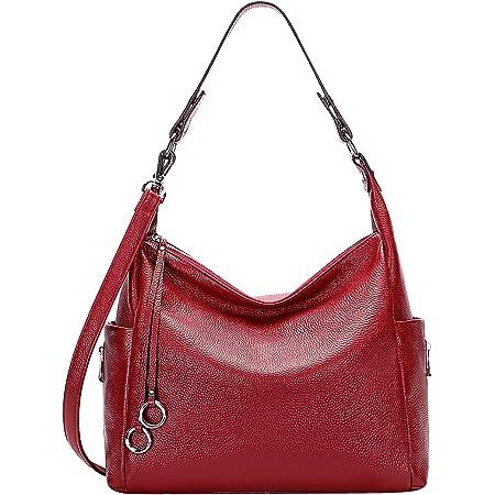 ALTOSY Handtasche Damen Leder Groß Schultertasche Hobo Bag Tasche Umhängetasche Henkeltaschen Tote Bag (A61601, Weinrot)