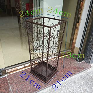 Ping Bu Qing Yun Umbrella Stand Home Creative Office Wrought Iron Umbrella Bucket Hanging Folding Umbrella Storage Bucket Hotel Umbrella Stand - 3 Colors Optional Umbrella Holder (Color : Maroon)