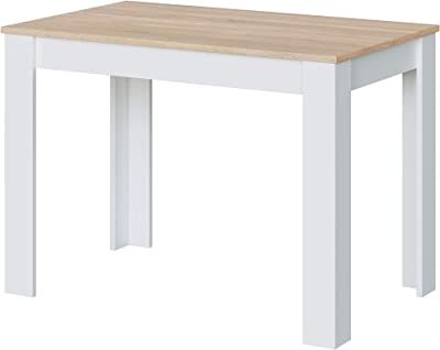 Loungitude Table à Manger, Mélamine, L108,5 x H78 x P67cm