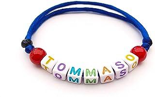 Pulsera con nombre bisutería con texto, mensaje; regalo personalizado para adultos y niños; letras del alfabeto Hecho a ma...