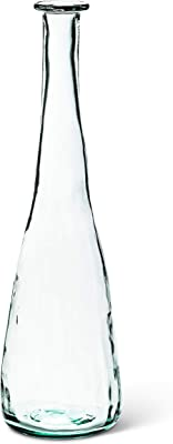 Abbott Collection 83-FREEFORM-0131 Tall Narrow Neck Vase-23 H, Clear