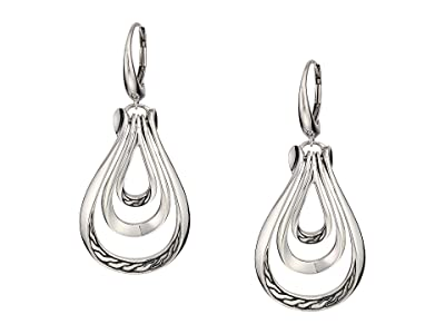 John Hardy Classic Chain Earrings (Silver) Earring