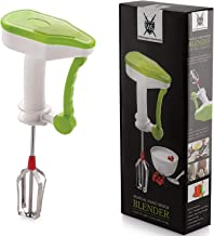 Manual Hand Held Kitchen Mixer and Blender by Wilmington Steelwares, Power Free Food Processor, Easy To Use, Grip & Clean