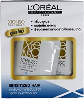 L'Oreal Xtenso Oleoshape Hair Straightener Sensitized Hair 125ml + 125ml