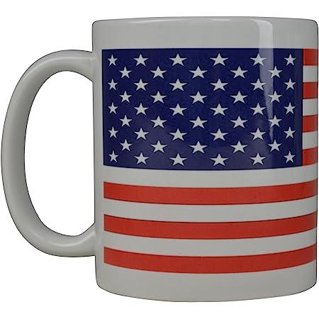 Amazon Com Home Essentials American Flag Coffee Mug Stoneware 17 Ounce Kitchen Dining