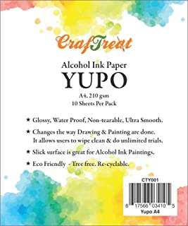 CrafTreat Alcohol Ink Paper YUPO A4