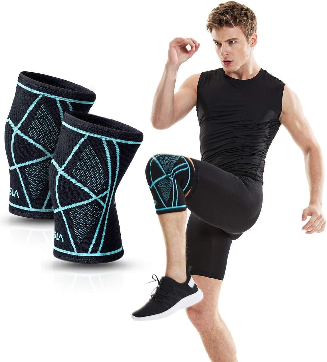 TSLA 1 or Elegant 2 pcs Brand new Knee Sleeve Brace Compression Support for
