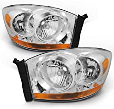 For Dodge Ram Truck OE Replacement Chrome Bezel Headlights Driver/Passenger Head Lamps Pair New