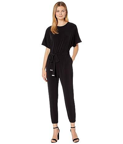 MICHAEL Michael Kors Solid Short Sleeve Dolman Jumpsuit (Black) Women