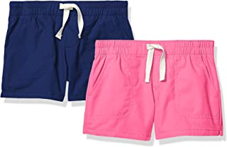 Amazon Brand - Spotted Zebra Girls' Toddler & Kids 2-Pack Pull-on Play Shorts