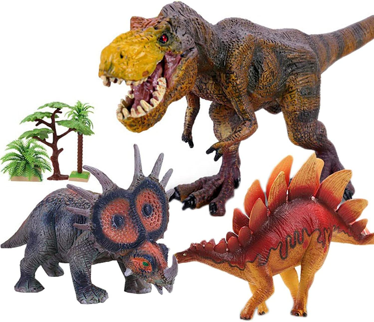 Educational Plastic Assorted Dinosaurs Toys Figures Set Kids-Pack of 3,  01