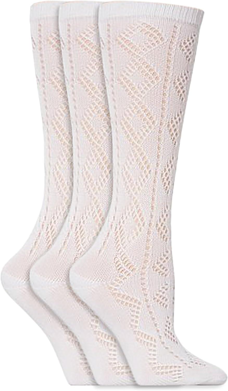 4-5.5, 6 Pack White Girls Knee High Pelerine School Socks 6 Pack White 12.5-3.5