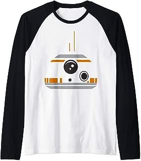 Star Wars The Force Awakens BB-8 Minimalist Big Face Costume Raglan Baseball Tee