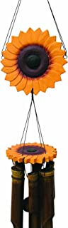 Cohasset Gifts 149 Cohasset Sunflower Bamboo Wind Chime, Bright Cheerful Yellow