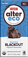Alter Eco | Dark Blackout | 85% Cocoa, Organic Dark Chocolate Bars with Recipe Guide, Single Bar (2.65oz)