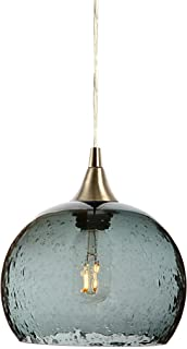 Bicycle Glass Lunar Single Pendant Light: Form NO. 767