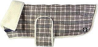 SHEDROW K9 Aspen Dog Coat - Water-Resistant Dog Vest w/Sherpa Lining, Adjustable Velcro Belly Band, Chest & Leg Strap - Plaid Dog Jacket, Winter Dog Clothing, Dog Waterproof Jacket