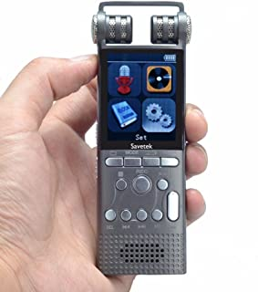 DZSF professionell ljudröstinspelare, röstaktiverad digital 16 GB USB-penna non-Stop 100 Hr inspelning PCM 1536 Kbps, stöd...