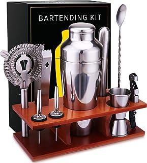 Bar Set 11-Piece Mixology Bartender Kit - Cocktail Shaker Set Bar Tool Set for Home and Professional Bartending - Martini ...