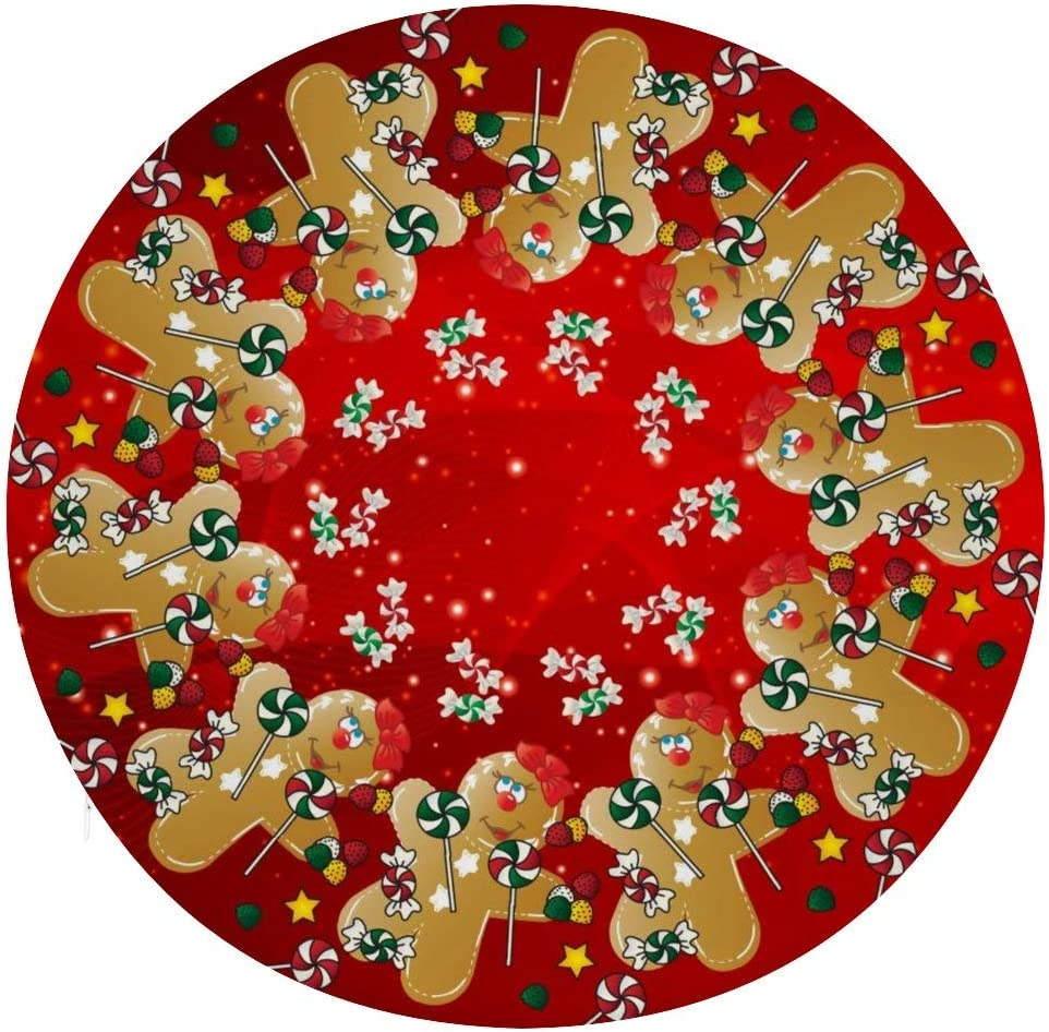 Owen Moll Round Chair Pad 5 popular Comf Christmas Sweet Gingerbread Candy Financial sales sale