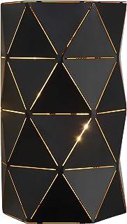 Lucide 21209/02/30 Otona Applique Murale, Métal, E14, 40 W, Noir, 15 x 8 x 20 cm
