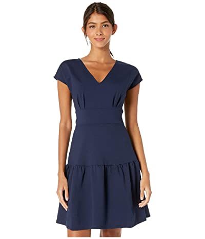 Kate Spade New York Ponte Flounce Dress (Prisan Navy) Women