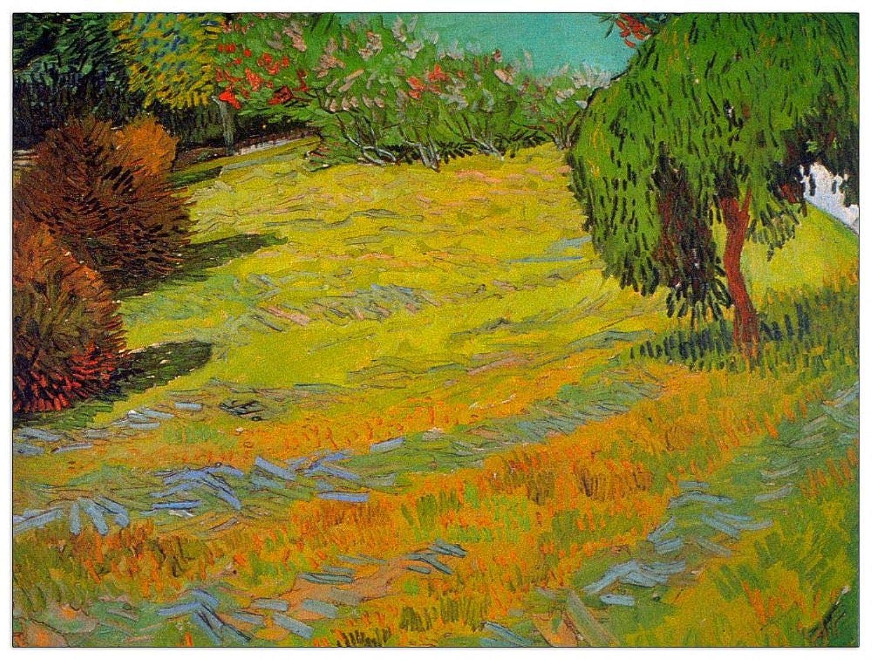 ArtPlaza TW90902 Van Gogh Vincent - Sunny Lawn Decorative Panel 35.5x27.5 Inch Multicolored