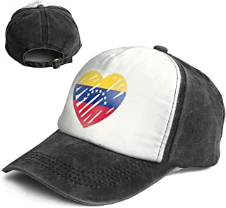 c6a1dc67750 Love Flag of Venezuela Trend Printing Cowboy Hat Fashion Baseball Cap for  Men and Women Black
