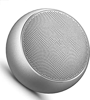 TDCQQ Bluetooth Speaker Insert Memory Card Portable Wireless Small Stereo Mini Subwoofer Home High Sound Quality (Color : Silver)