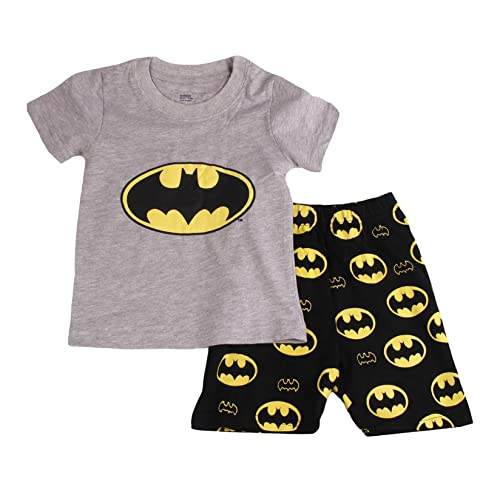 Gray Bat Boys Shorts 2 Piece Pajama Set 100% Cotton G6057 21e91a66f