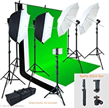 Linco Lincostore Photo Video Studio Light Kit AM169 – Including 3 Color Backdrops..